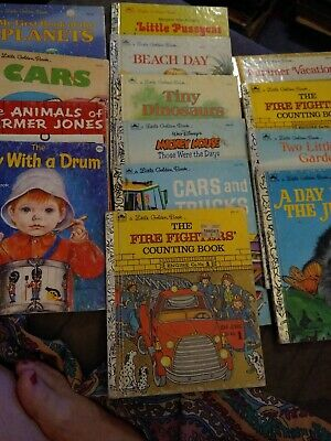 £11.35 • Buy Vintage Little Golden Book Lot Of 13 Books GUC