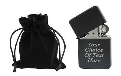 £3.99 • Buy Engraved Personalised Black Star Lighter Ideal Wedding Present + Gift Pouch