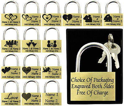 Anniversary Present, Wedding Favour 40mm Love Lock Personalised Engraved Padlock • 5.75£