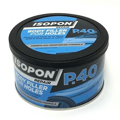 UPOL Davids Isopon P40 Fibre Glass Car Body Filler Holes Bridging Compound 250ml • 12.99£