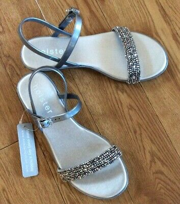 Holster Ladies Sandals HST198 Silver New 8 Uk • 12£