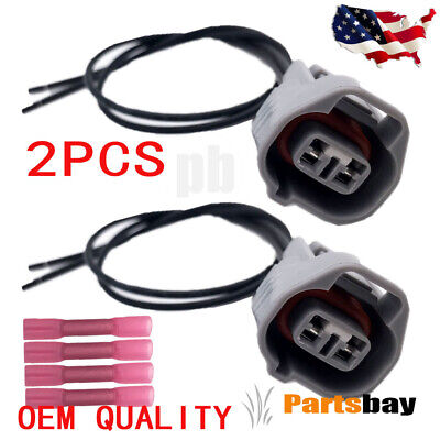 $12.99 • Buy 2 Side Marker Light Pigtail Connector Harness For Toyota Lexus Camry Prius Rav4