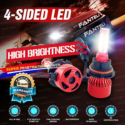 $14.94 • Buy 9007 HB5 4-Sided LED Headlight Kit Hi/Low 315000LM Car Light Bulbs 6000K White