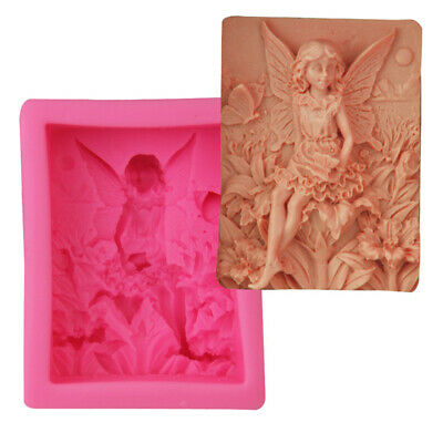 Fairy Angel Silicone Fondant Chocolate Baking Mold Soap Candle Wax Resin Mould • 5.99£