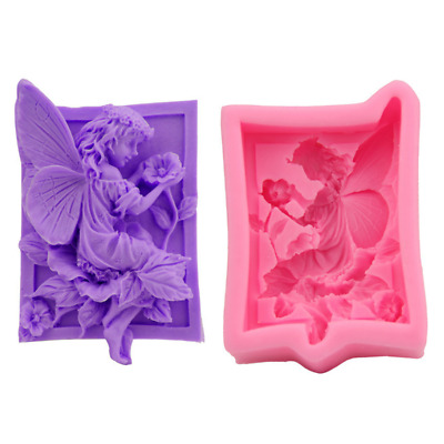 Fairy Girl Silicone Fondant Chocolate Baking Mold Soap Candle Wax Clay Mould DIY • 3.99£