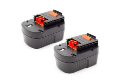 2x BATTERY 1500mAh Ni-Mh For Black & Decker FS12PSK / FSD122 / A12 / A12EX / A12 • 32£