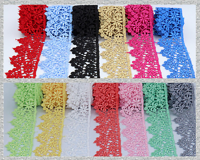 3 Cm Beautiful Daisy Lace Trim In Colours Guipure Ideal For Embellishing Sewing  • 1.99£