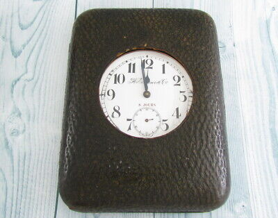 AU1297.93 • Buy Henry Moser With Omega Mechanism LARGE 8-DAY TRAVEL POCKET WATCH LEATHER CASE