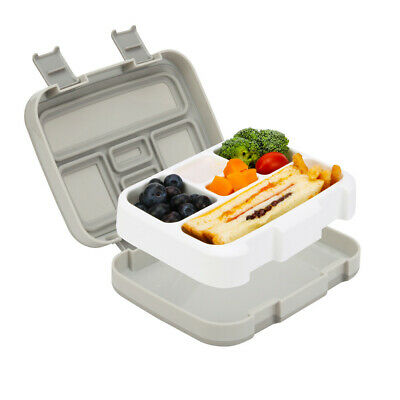 Kids Children Lunchbox 5 Compartments Bento Box Food Container Box With Spoon • 9.99£