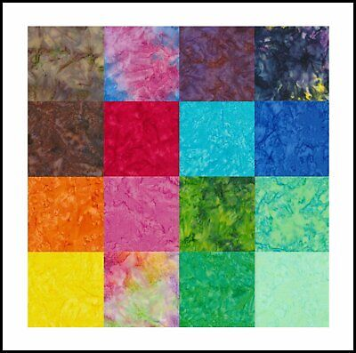 Batik Fabric (smoke Batik) For Quilting And Craft-100% Cotton -sew Simple Design • 3.19£