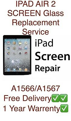 £59.95 • Buy IPad AIR 2 CRACKED GLASS DIGITIZER TOUCH SCREEN REPAIR REPLACEMENT SERVICE