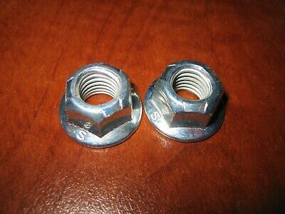 $1.99 • Buy Two (2) HEX FLANGE LOCK NUT M10 X 1.5 ZINC PLATED STEEL 15mm Wrench Size