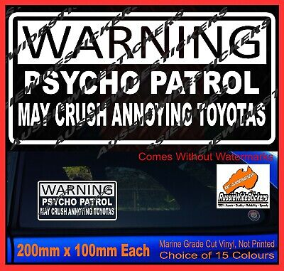 AU6.90 • Buy WARNING Stickers For Nissan PATROL Accessories Ute 4x4 MX Funny Decal 200mm