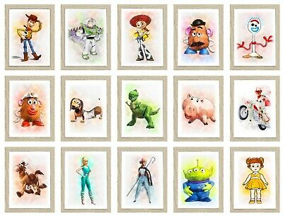 Toy Story Poster Character Childrens Bedroom Birthday Keepsake A4 Prints Only • 3.70£