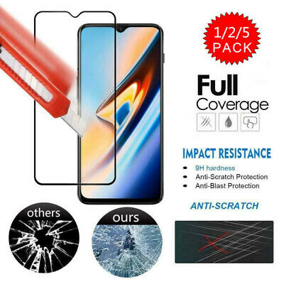 AU4.02 • Buy 5 Pack Full Cover Tempered Glass Film Screen Protector  For OnePlus 7 Pro 6T 7 5