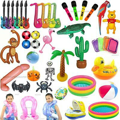 Inflatable Toys Kids Hen Party Swim Props Blow Up Musical Instruments Animals • 1.89£