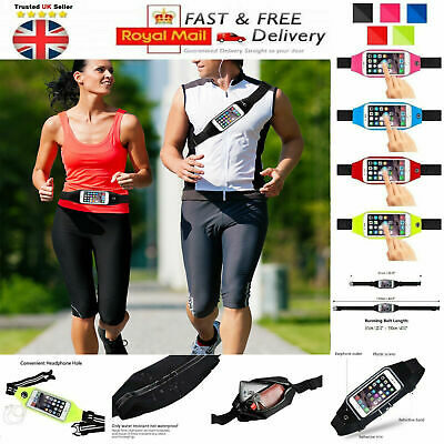 Running Waist Belt Jogging Phone Holder For Samsung Galaxy Note,J5,J7,S6,S10,S9+ • 4.95£