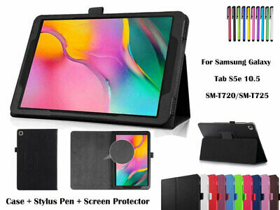 AU2.50 • Buy Folding Flip Leather Cover Case For Samsung Galaxy Tab S5e 10.5, T720/T725