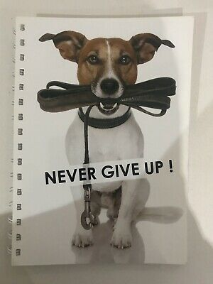 AU14.95 • Buy 2021-2022 Financial Year Diary Dog With Never Give Up QUOTE A5 WEEK TO VIEW
