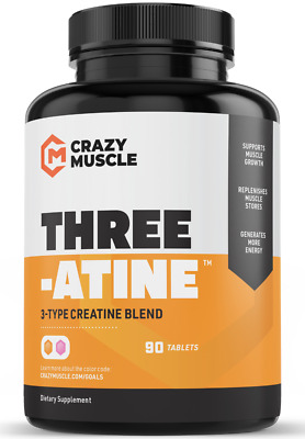 $15.49 • Buy Crazy Muscle® Creatine Monohydrate Pills: [PROVEN] Muscle Building Supplement ✅✅