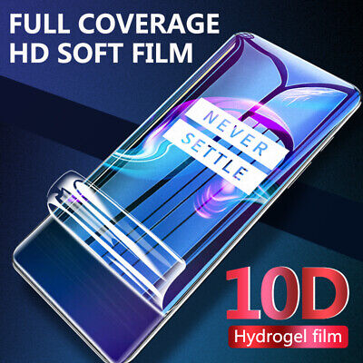 $ CDN3.21 • Buy For Oneplus 8 7 Pro 10D Matte Full Coverage Hydrogel Film Soft Screen Protector