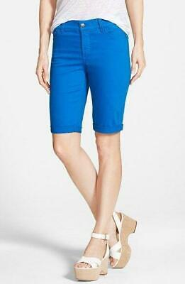 $23.99 • Buy NWT NYDJ Not Your Daughters Jeans Olympia Blue Crop Cuff Petite Shorts
