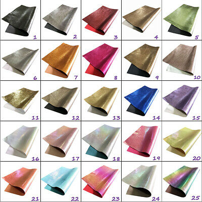 Metallic Leather Look Fabric Backed A4 A5 Sheets Hair Bows Crafts Code # 312 • 2.77£