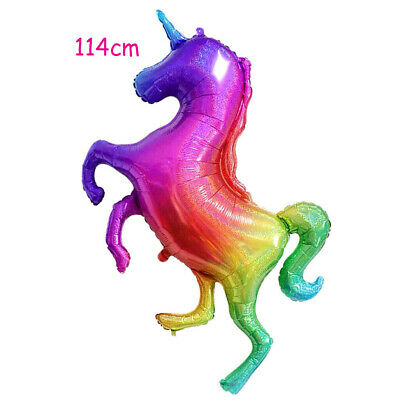 AU6.95 • Buy Glitter Rainbow Unicorn Jumbo Shape Holographic Giant Helium Balloon Party