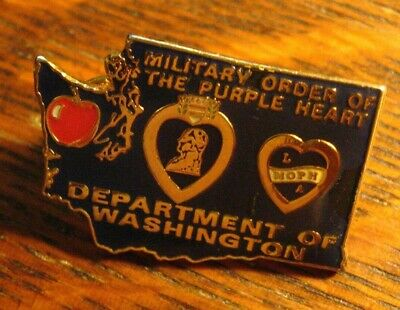 $22.99 • Buy Military Order Of The Purple Heart Lapel Pin - Department Of Washington Badge