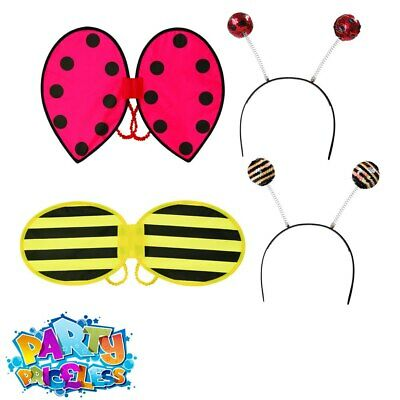 Kids Girls Ladybird Bumble Bee Fancy Dress Outfit Insect Book Week Day Accessory • 2.99£