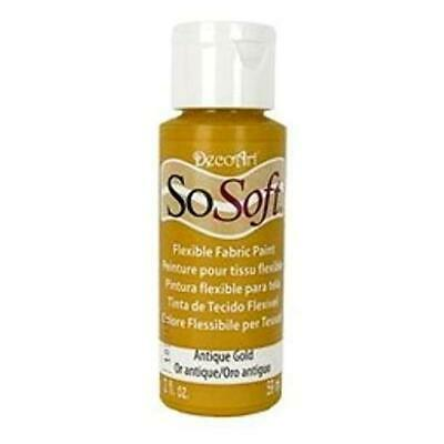 DecoArt SoSoft Acrylic Fabric Paint 59ml (2oz) • 2.99£