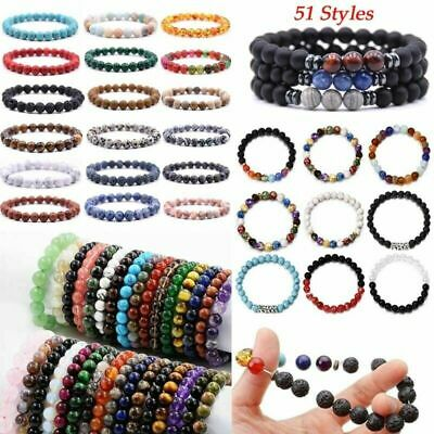 AU1.98 • Buy 7 Chakra Healing Beaded Bracelet Natural Lava Gemstone Stone Bracelet Jewelry