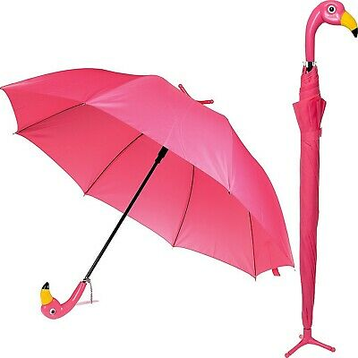 AU37.95 • Buy Umbrella Womans Flamingo Pink Bird Handle With Stand Novelty Gift For Mum New