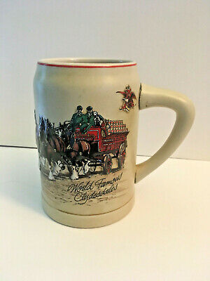 $ CDN11.27 • Buy 1987 Anheuser Budweiser World Famous Clydesdales Beer Stein Mug