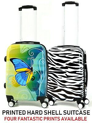 EasyJet Hard Shell Printed Cabin 4 Wheels Spinner Trolley Luggage Suitcase Bag • 29.95£