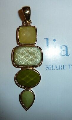 $ CDN12.54 • Buy Lia Sophia  Infuse  Pendant Slide- 2006 - Greentoned Stones/art Deco Flair