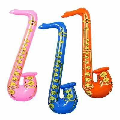 1 Inflatable Music Instruments Saxophone Fancy Party Accessories Blow Up Toys • 2.29£