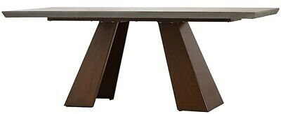 $2567.25 • Buy 79  L Ira Dining Table Modern Concrete Slab Top With Acrylic Seal Rust Iron Base