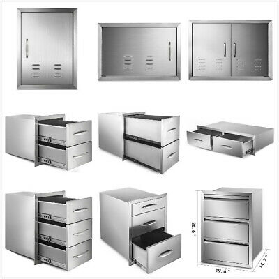 $169.97 • Buy Outdoor Kitchen BBQ Island Components Stainless Steel Access Door And Drawer