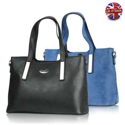 Women Handbag Leather Briefcase Shoulder Bag Tote Purse Ladies Messenger Satchel • 6.99£