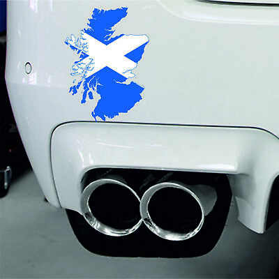 Sticker Car Moto Map Flag Vinyl Laptop Wall Decal Macbook Scotland Scottish • 2.49£