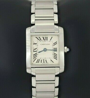2378cabf73a46 Ladies Cartier Tank Francaise 2384 Stainless Steel Off-White Dial Quartz  Watch • 1,495.00$
