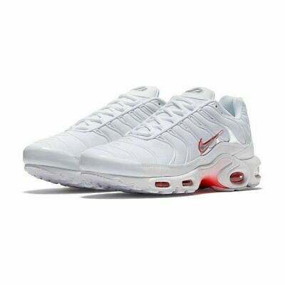 Nike Air Max Plus TN Running Sneakers New, White / Infrared 852630-101 Sz 11.5 • 79.99$