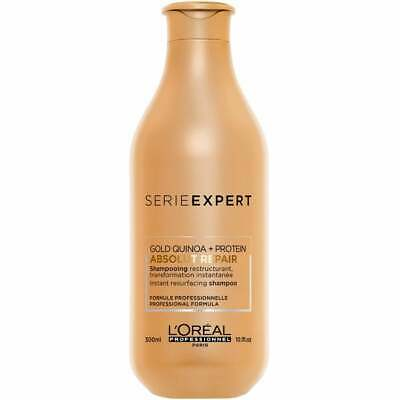 L'Oreal Serie Expert Absolut Repair Gold Quinoa + Protein Shampoo 300ml • 12.49£