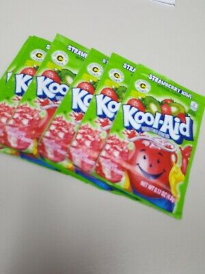6 Strawberry Kiwi Kool-Aid Drink Mix Gluten Free Unsweetened Exp 2021 FREE SHIP • 4.28£