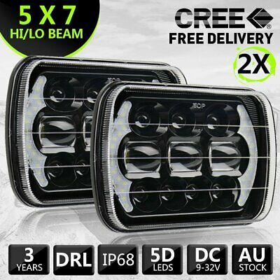 AU97.99 • Buy Pair Hilux Led Upgrade Head Light 5x7inch Headlight Replacement Hi/lo H4 Plug
