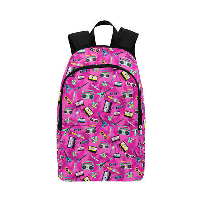 AU71.69 • Buy Pink Retro 80's Backpack School Bag Rucksack College Work Cassette Tape