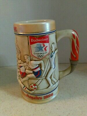 $ CDN5.24 • Buy Budweiser 1984 Xxiiird Olympiad Los Angeles Ceramic Beer Stein