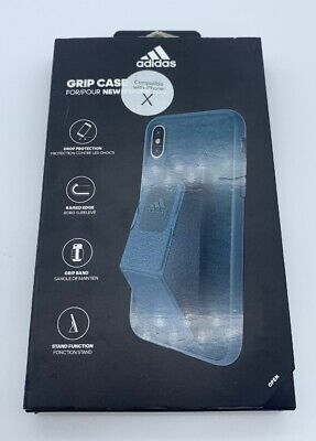 AU17.31 • Buy Adidas IPhone X / Xs Grip Case - Blue - W / Grip Band / Stand Function