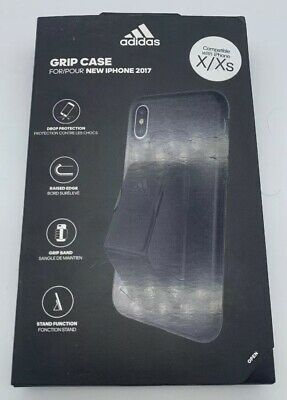 AU14.64 • Buy Adidas IPhone X / Xs Grip Case - Black - W / Grip Band / Stand Function